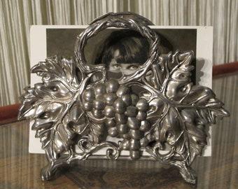 Godinger Silver Plated Grapevine Napkin Holder - Godinger Collectibles - Grapes Grapevine Vineyard - Wine Lover - Serving Dining Ware