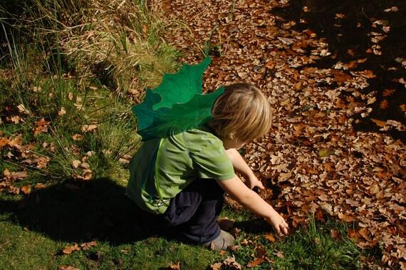 Iridescent Green Dragon Wings -Handmade children's costume or photo prop
