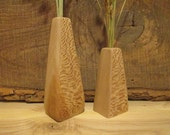 Vase for Dried Flowers, Carved Wooden Vases, Reclaimed Wood, Eco Friendly Christmas Gift