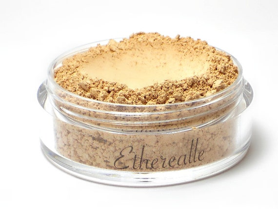 CLEARANCE - Mineral Foundation Powder with Pearl Powder - Almond - light-medium shade with a yellow undertone