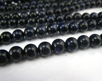 stone bead,blue sandstone 6mm,15 inch