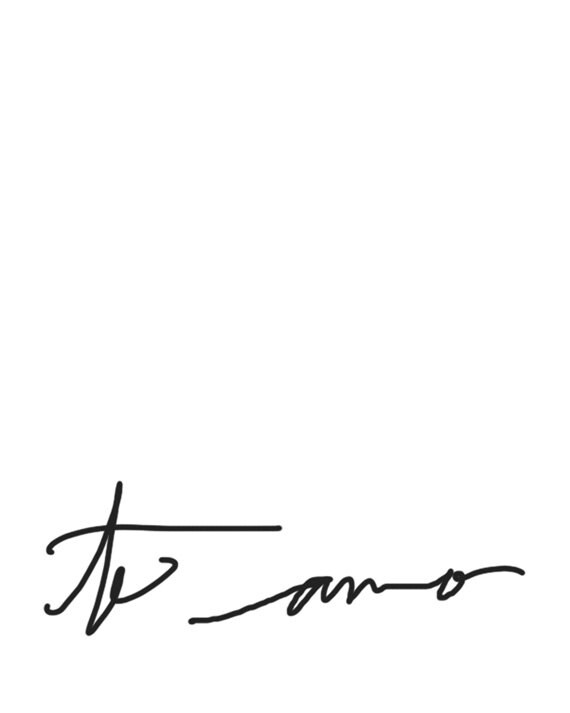 Calligraphy Fine Art: Te Amo Handwriting Print