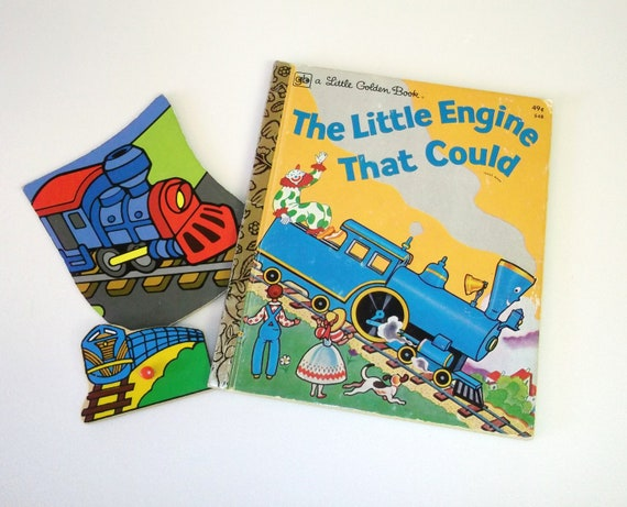 The Little Engine That Could, A Little Golden Book, 1975, Children's Book,  Illustrated Children's Book, Train,
