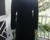 Velvet evening coat