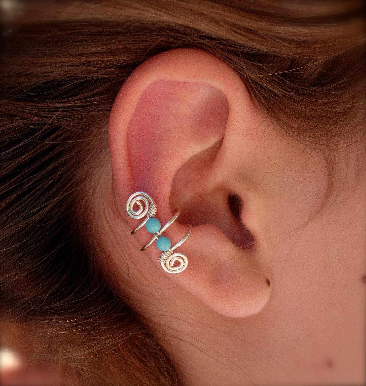 ear cuff ear wraps earcuff single silver plated ear cuff. Black Bedroom Furniture Sets. Home Design Ideas