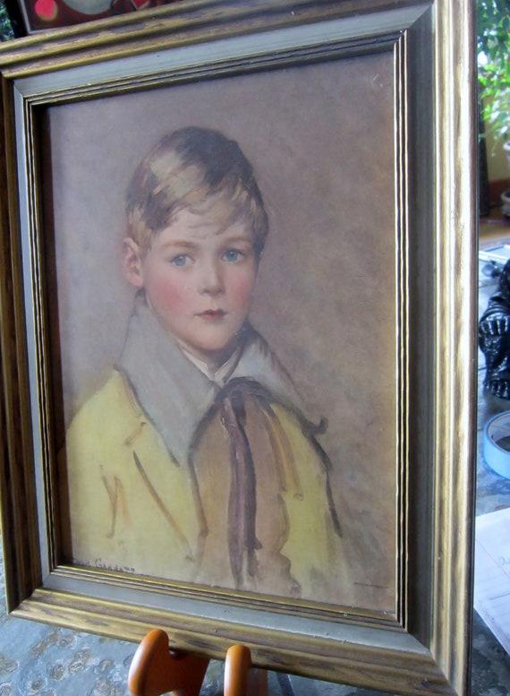 Vintage Print - Peter by Arthur Garrett - Child Portrait Little Boy