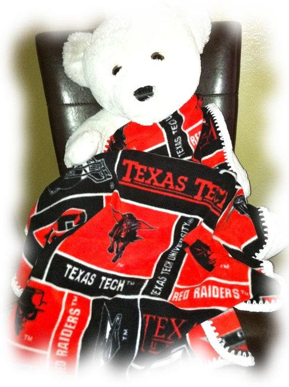 Texas Tech Football Fleece Sports Baby Blanket