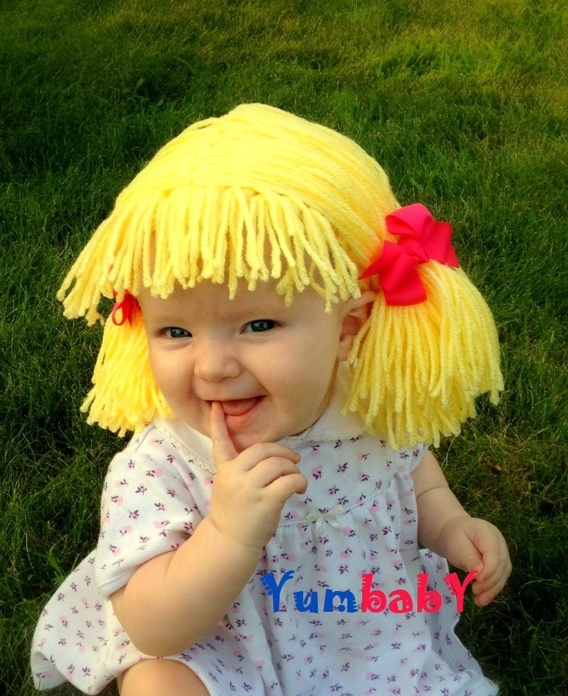 Cabbage Patch Wig Baby Girl Hat Inspired