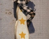 Private Listing-Attn Carol Kuper-Pyle-10 Primitive Wooden Snowman Ornaments