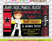 402: DIY - Karate Kid Party Invitation Or Thank You Card