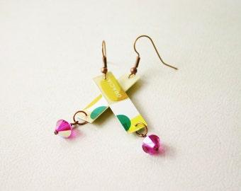 Starbucks Re-Purposed Jewelry Dangle Earrings for Women Muchas Gracias JSB68