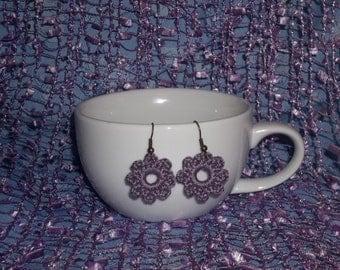 Power Flower Crochet Earrings (1 pair custom made)