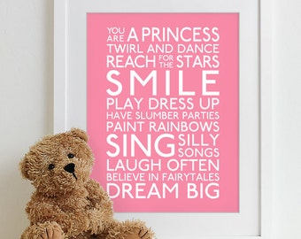 Baby girl nursery etsy for Signs for little girl rooms