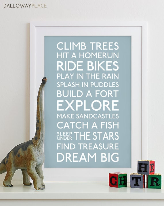 Adventure Quotes Kids Wall Art