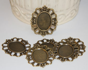 6 Filigree Metal Embellishments for Cameos, Scrapbooking,Card Making,Home Decor,Mini Albums,Journals,Craft Projects,Altered Art