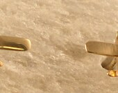 14kt or Silver Cessna Airplane Earrings