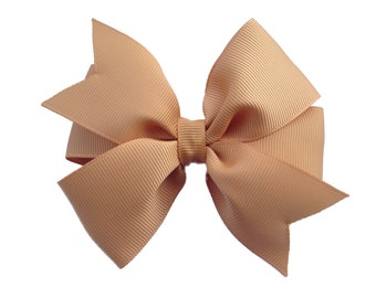4 inch gold hair bow - gold bow, 4 inch bows, pinwheel bows, girls hair bows, toddler bows, gold hair bows, girls bows, hair clips