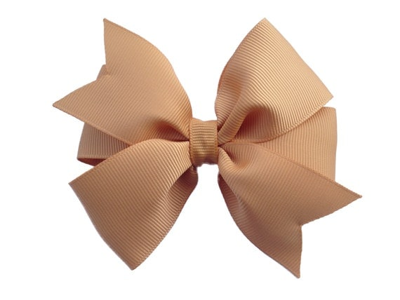 4 inch gold hair bow - gold bow