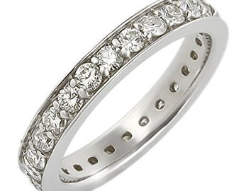 Women's Diamond Eternity Gold Ring with Channel Setting