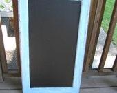 Chalkboard Window - Great smaller Size, Kitchen Chalkboard, Rustic Wedding sign, Menu, Lists, many possibilities 1 left - blue frame