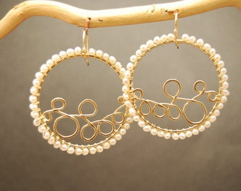 Hammererd circles with Ivory Pearls Cosmopolitan 81