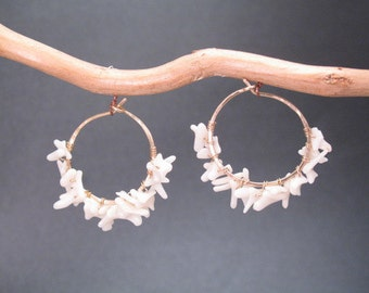 Hammered hoops White Branch Coral Cleopatra 106