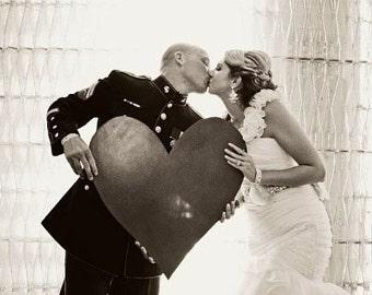 Wooden Heart Wedding Guest Book Alternative