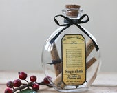 Christmas music notes Song in a Bottle Romantic Christmas Steampunk Apothecary Bottle Victorian gift