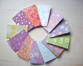 Notebooks: 12 Tiny Journals Set, Bright, Flowers, Mom, Gift, Unique, Journals, Mini Journals, Small Notebooks, Geometric - Set of 12