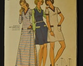 Dress and Jumper Misses' Size 16 Bust 38 Vintage 1970s Uncut Sewing Pattern Butterick 6983