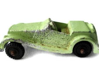 Sale Metal Car Midget Toy Diecast Car Green Convertible Vintage Midgetoy Rustic Metal Decor Mid Century Toys