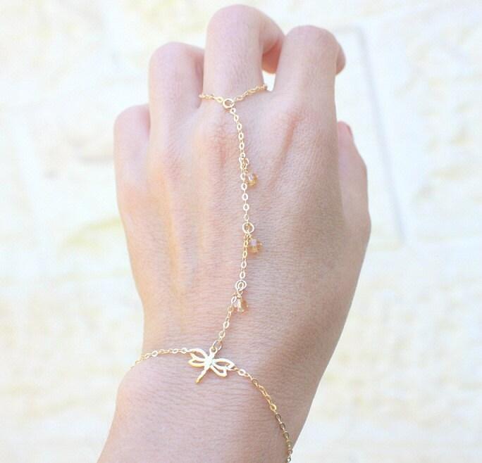 ring bracelet slave bracelet delicate gold bracelet ring