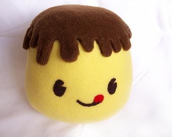 Giga Puddi, Pudding Meme,  Fleece Japanese Kawaii Food Plush Toy for Children or Kids at Heart. GREAT Gift!