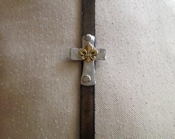 Large Cross Saddlestrap Bracelet