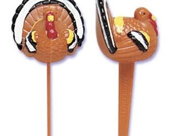 Turkey Cupcake Picks, Thanksgiving Cupcake Picks, Fall Cupcake Picks