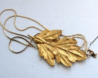 Leaf Necklace - Vintage