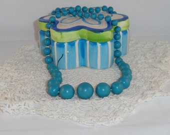 1950s Turquoise Beaded Necklace