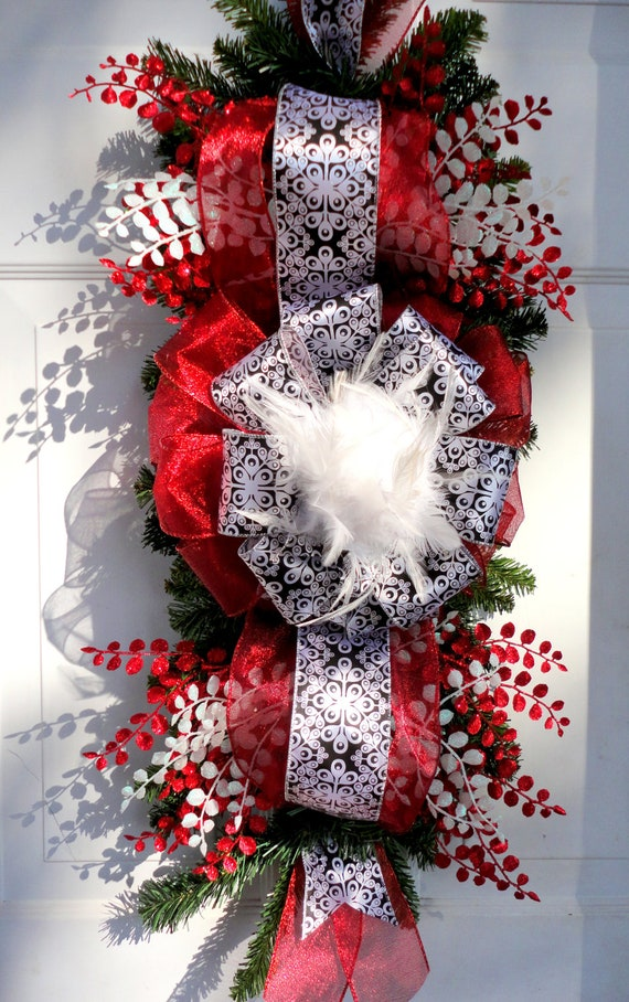 Saletable swag garland christmas swag wreath deco mesh for Christmas swags and garlands to make