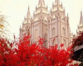 "LDS Temple Fine Art Print Salt Lake City Utah ""I'm Going There Someday"" 11x14- Wedding Gift- Mormon"
