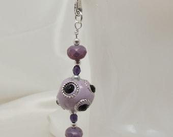 Purple Beaded Filigree Bookmark