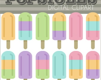 Popsicle Clipart -Personal and Limited Commercial Use- summer cipart, popsicles clipart