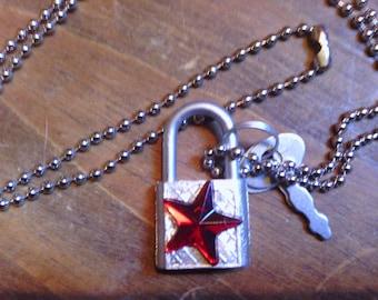 lock in my love pendant  necklace