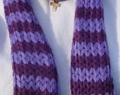 Long Striped Shades of Purple Scarf - can be worn as a neck warmer as well-