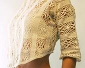 Vintage corset cover, antique lace camisole, Blouse, silk, 1890, 1900, backless, vintage lace