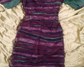 Jarboe silk striped handpainted dress