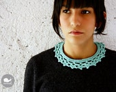 The Crown Collar Necklace in aqua