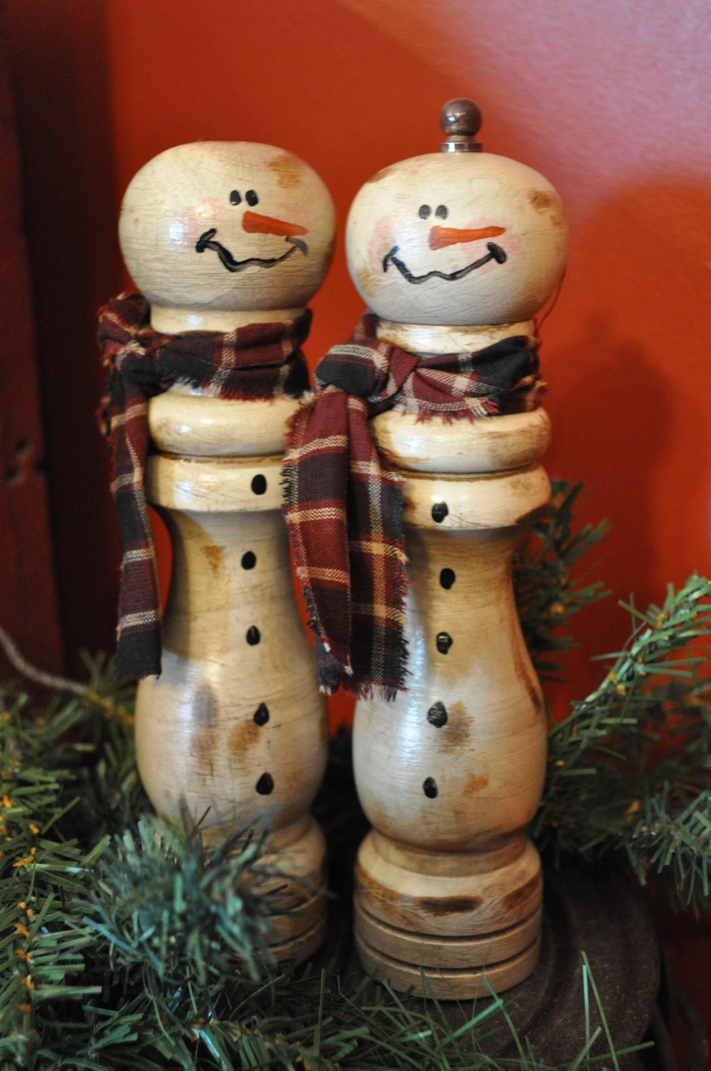 Salt  u0026 Pepper Snowmen decorative use only