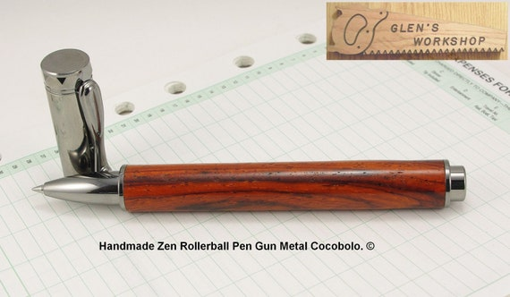 Handmade Zen Magnetic Pen in Gun Metal and Cocobolo.