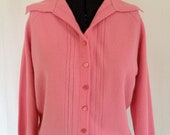 RESERVED-Vintage 50's Soft Pink Cardigan Sweater - Medium