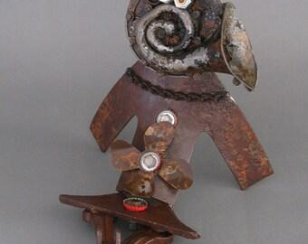 ROBOT SCULPTURE - Metal art robot Metal art sculpture - Lena the Lounge Singer